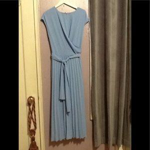 Maddy London Maya blue pleated dress